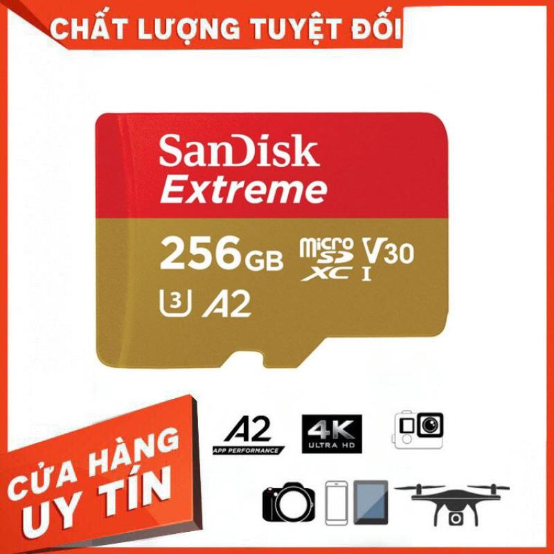 [Hãng Phân Phối Chính Thức] Thẻ Nhớ MicroSDXC SanDisk Extreme V30 A2 256GB 160MB/s SDSQXA1-256G-GN6MN - Bảo Hành 3 Năm Miên phí Đổi trả 7 Ngày