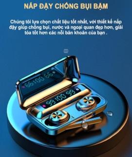 [AMOI F9-10]Tai nghe bluetooth không dây AMOI f9 phiên bản thế hệ 10 có đế sạc dự phòng, mic đàm thoại - Tai nghe không dây nhét tai Amoi f9-10 - Tai nghe bluetooth mini thumbnail