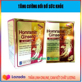 HOMRAMIN GINSENG NHÂM SÂM - - Tăng Cường Bồi Bổ Sức Khỏe- Nguyên Liệu Nhập Mỹ( 24NcTl VANG) thumbnail