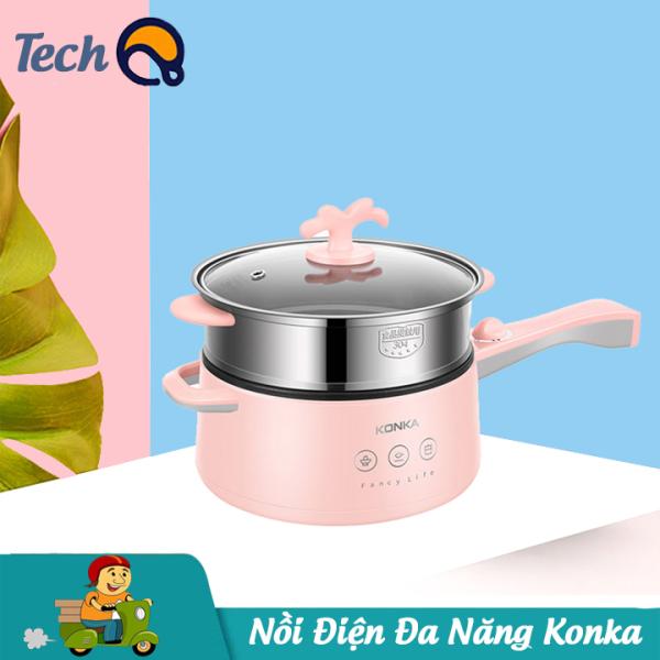 Chảo điện mini đa năng cao cấp hiệu KONKA,  nồi lẩu mini công suất 700W -Bảo hành 12 tháng
