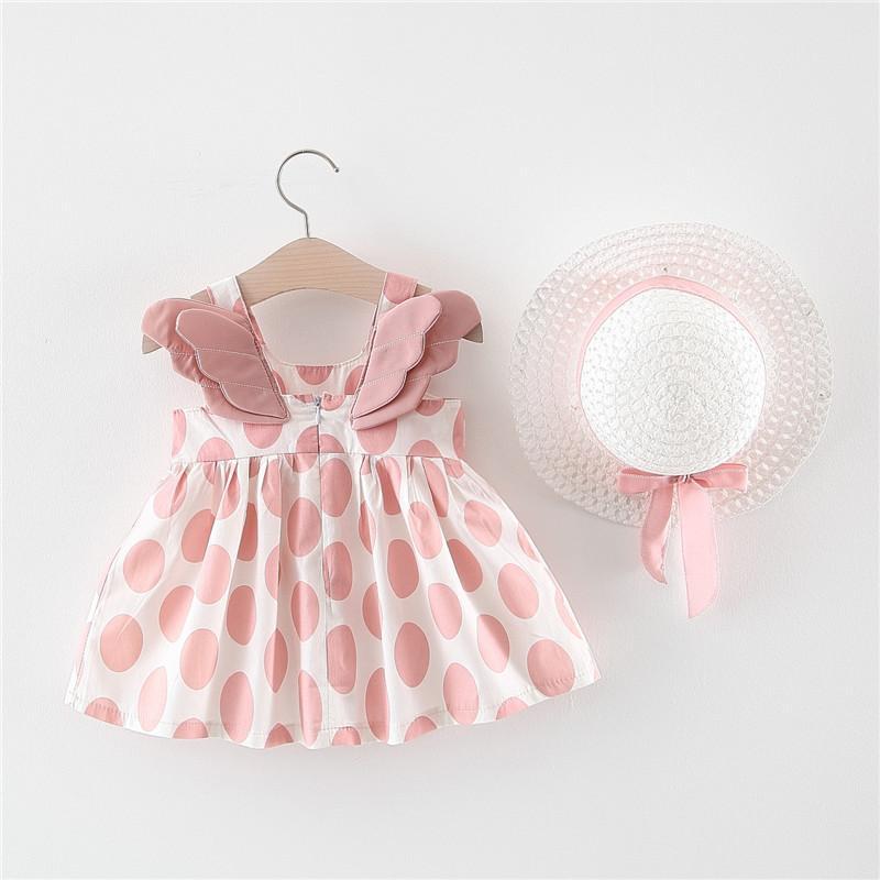 Bộ Váy đầm đôi Cánh Thiên Thần Tặng Nón Xinh Xắn Dễ Thương Cho Bé V17 (từ 5-16Kg) Giá Quá Ưu Đãi