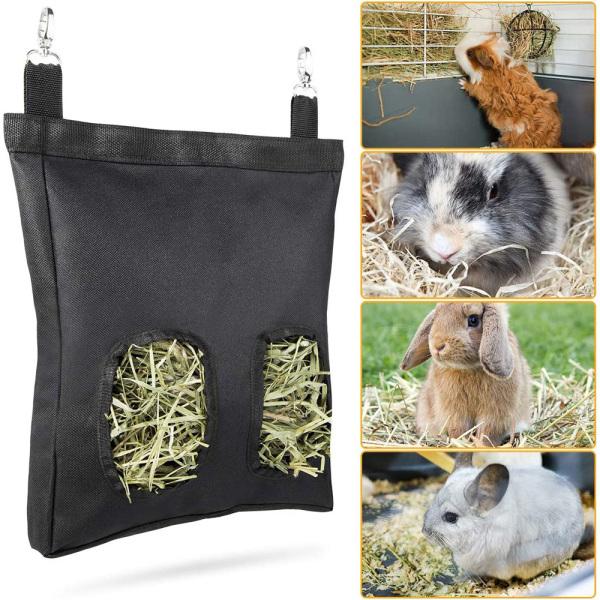 Chuột Hamster HAZELLE Phụ Kiện Lồng Thú Cưng Guinea Nhỏ Thỏ Hay Trung Chuyển Máy Cho Ăn, Túi Cỏ Khô, Túi Đựng Thức Ăn Túi Đựng