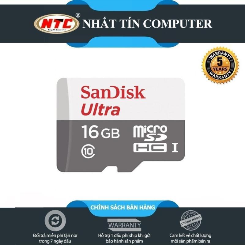 Thẻ nhớ MicroSDHC SanDisk Ultra 533X 16GB 80MB/s - new Version (Trắng bạc)