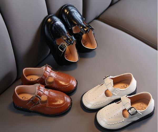 Giá bán Giày da PU đế mềm phong cách Hàn Quốc dành cho bé gái