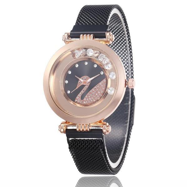 Đồng hồ nữ DZG họa tiết thiên nga