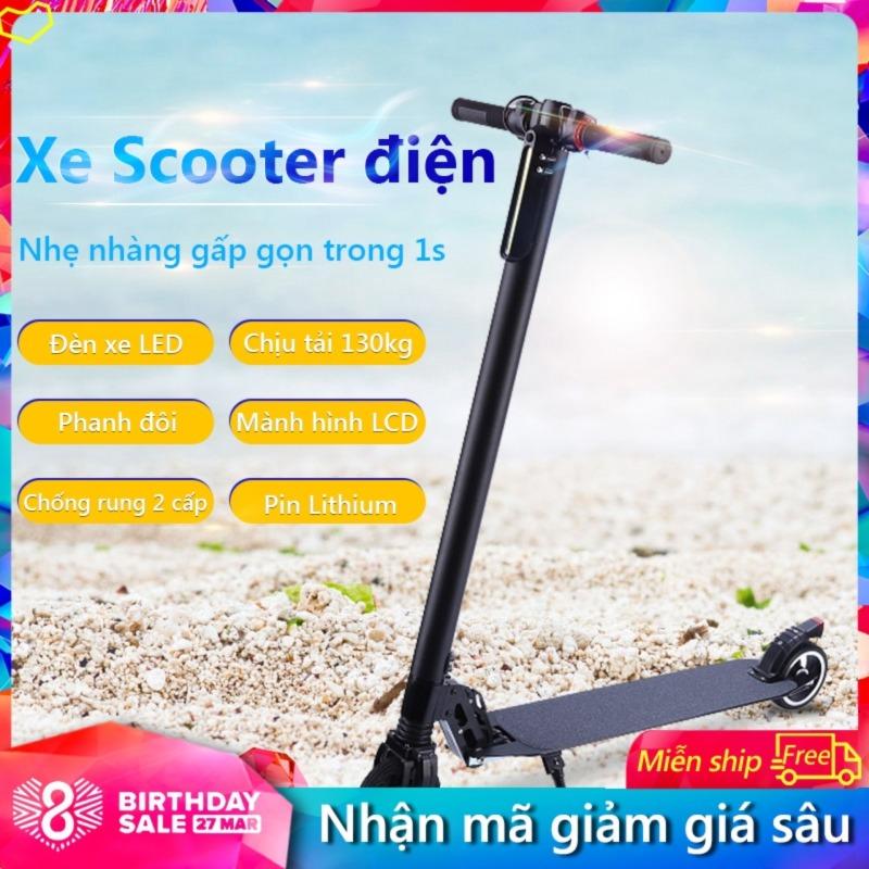 Giá bán Xe Scooter xe trượt điện mini có thể gấp thanh thiếu niên nam nữ đi làm đi học tiện lợi Tops Market