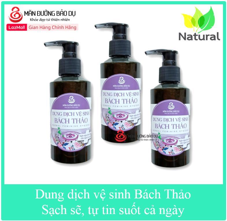 Combo 3 chai Dung dịch vệ sinh Bách Thảo chiết xuất từ thiên nhiên ngăn ngừa nấm ngứa vùng kín cao cấp