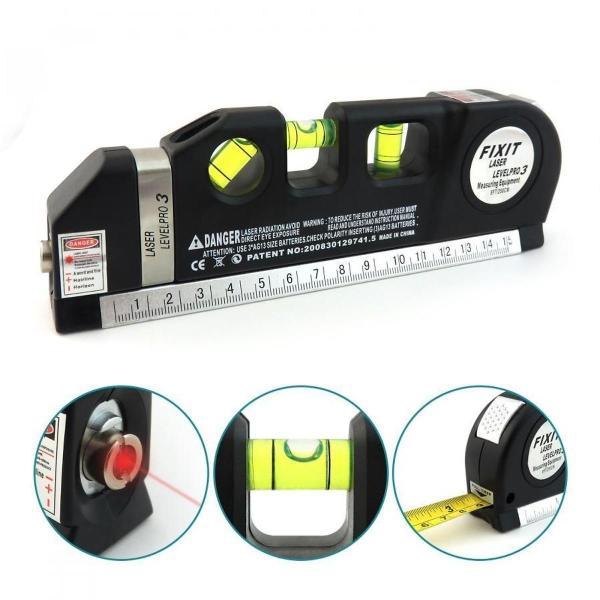 Thước đo khoảng cách bằng laser/thước đo laser cầm tay (Đen) - thước nivo laser
