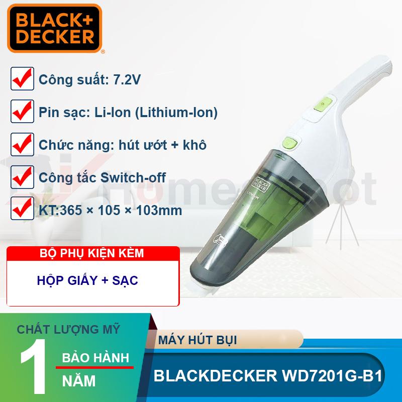 Máy Hút Bụi Cầm Tay Dùng Pin Black & Decker NVB115J-B1 (3.6V) - Hàng chính hãng
