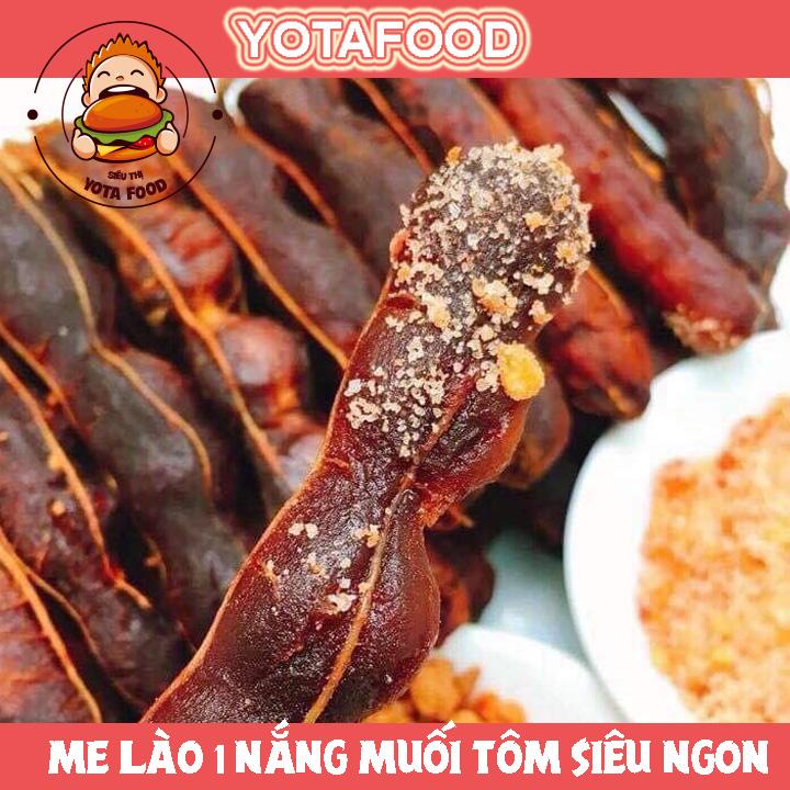 [HCM]Me lào 1 nắng nguyên trái kèm muối tôm loại ngon  Yotafood - 500Gr