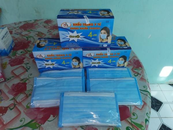 Combo 5 hộp (250 cái) khẩu trang 4 lớp xanh Nam Anh kháng khuẩn kháng virút nhập khẩu