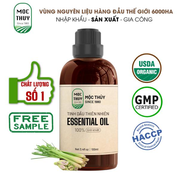 Tinh dầu thiên nhiên Sả Chanh Mộc Thủy - Lemongrass Essential Oil - Đạt chuẩn chất lượng kiểm định cao cấp