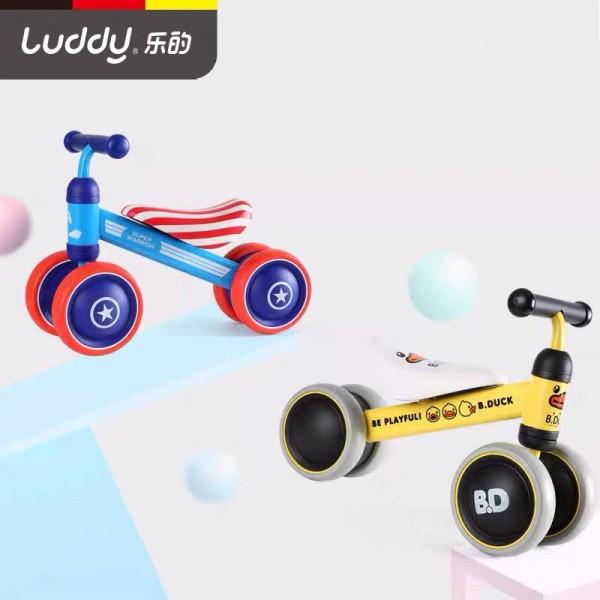 Xe chòi chân Luddy (Chính hãng - Nhiều mẫu) cho bé 10-24 tháng 4 bánh yên da mềm tiêu chuẩn chất lượng châu Âu CE