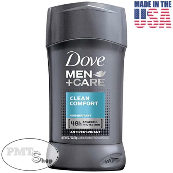 [USA] Lăn sáp khử mùi nam Dove Men +Care Clean Comfort 76g (sáp trắng) ngăn mồ hôi - Mỹ nhập khẩu