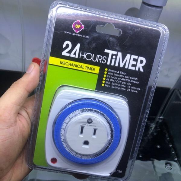 Bộ cắm điện hẹn giờ cơ chuyên dụng cho hồ cá cảnh 24H Timer - thuỷ canh