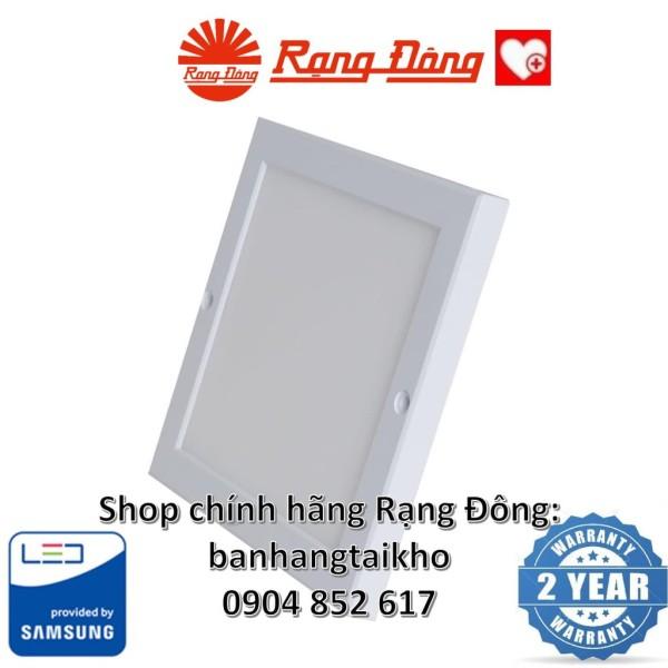 Đèn Led Ốp Trần Vuông Siêu Mỏng Rạng Đông 18W 220X220Mm, Kiểu Dáng Hàn Quốc, Chipled Samsung