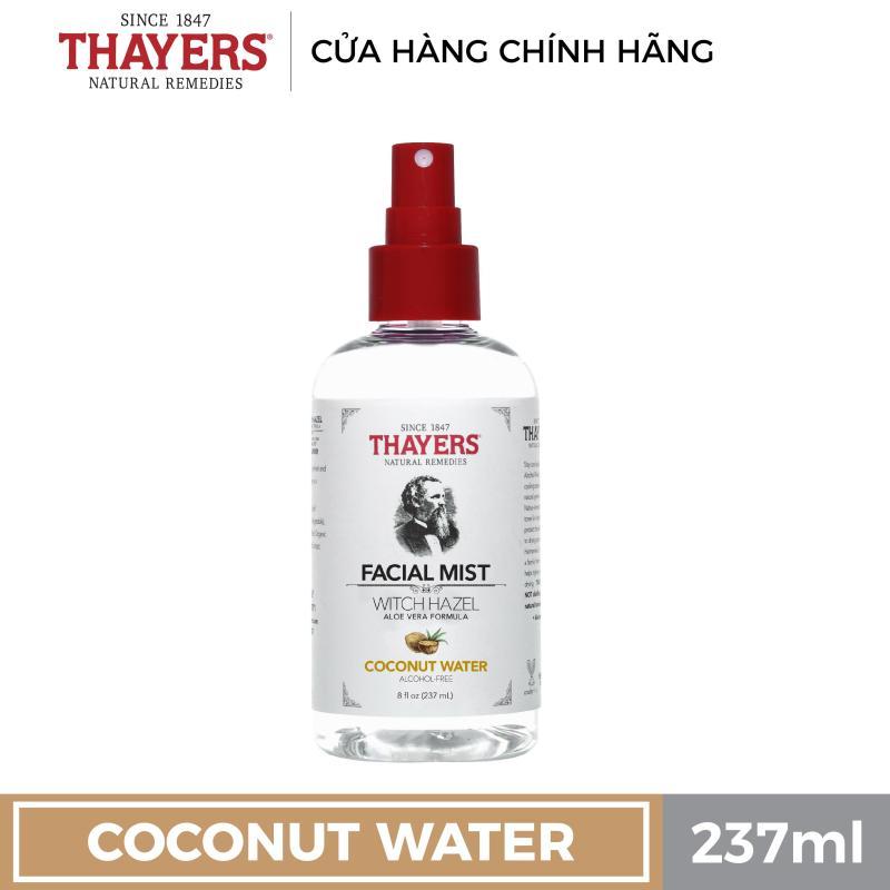 Nước hoa hồng không cồn THAYERS - Hương nước dừa - Dạng xịt 237ml cao cấp