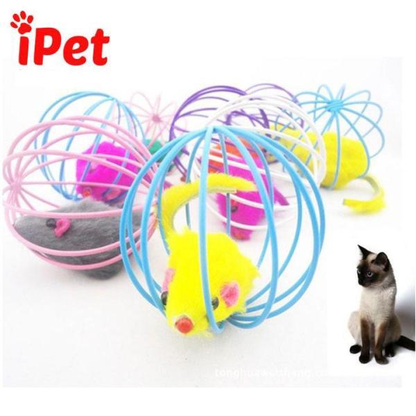 Quả Bóng Lồng Sắt Có Chuột Giả Đồ Chơi Cho Chó Mèo - iPet Shop