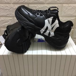 [TẶNG TẤT + HỘP] Giày thể thao hàn quốc nam nữ MLB full đen NY trắng thumbnail