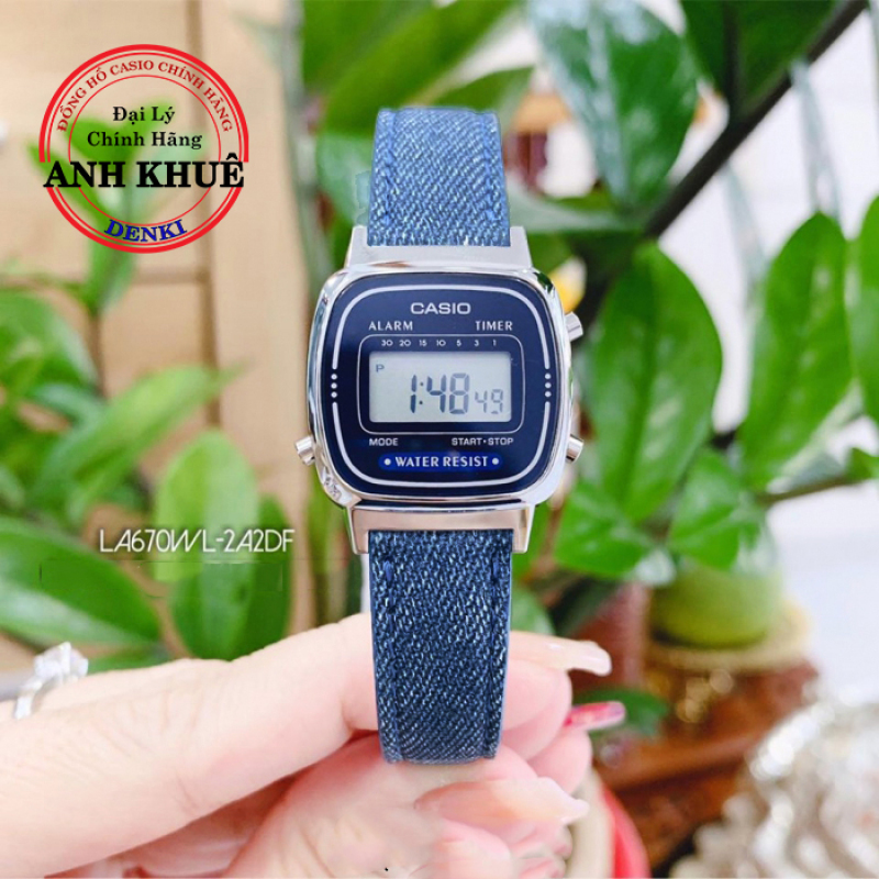 Đồng hồ nữ dây da Casio Standard LA670WL-2A2DF chính hãng Anh Khuê
