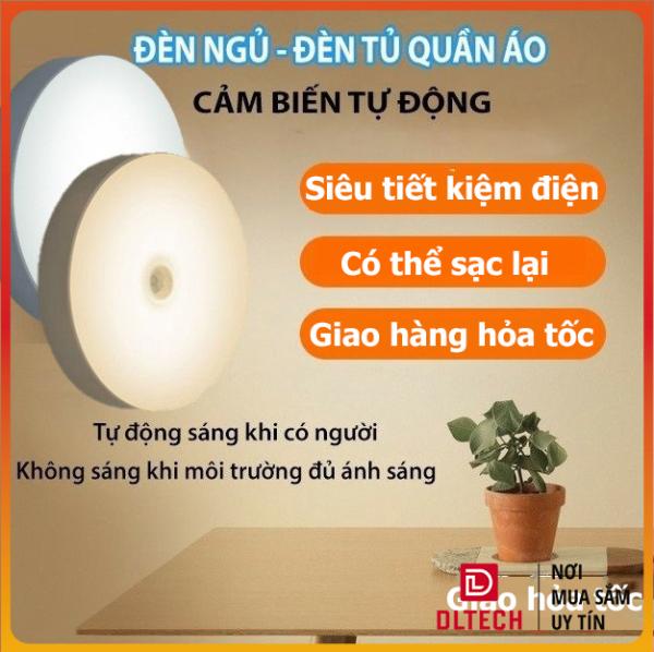 Đèn LED cảm ứng thông minh ánh sáng vàng cảm ứng chuyển động cơ thể người pin sạc dung lượng 700mah Light 002