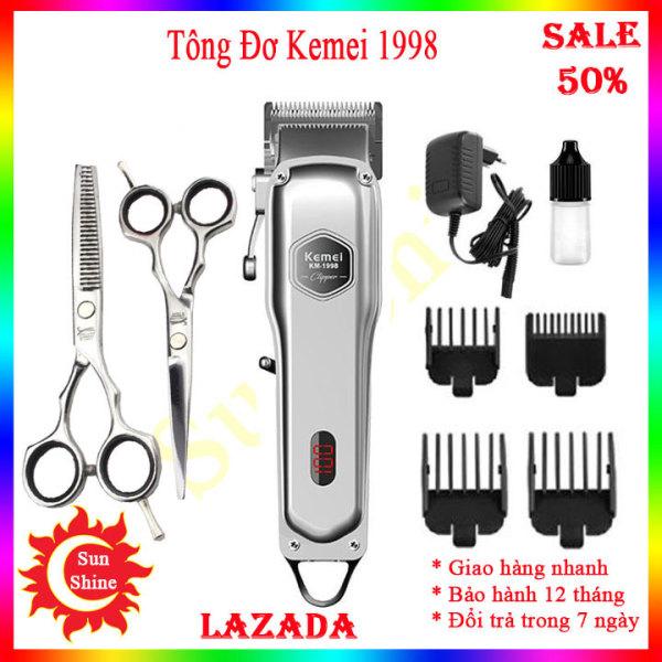 Tông đơ cắt tóc chuyên nghiệp - Kemei Km-1998 - Máy hớt tóc - Tăng đơ cắt tóc cao cấp, pin trâu, lưỡi dày, bảo hành lỗi 1 đổi 1 giá rẻ