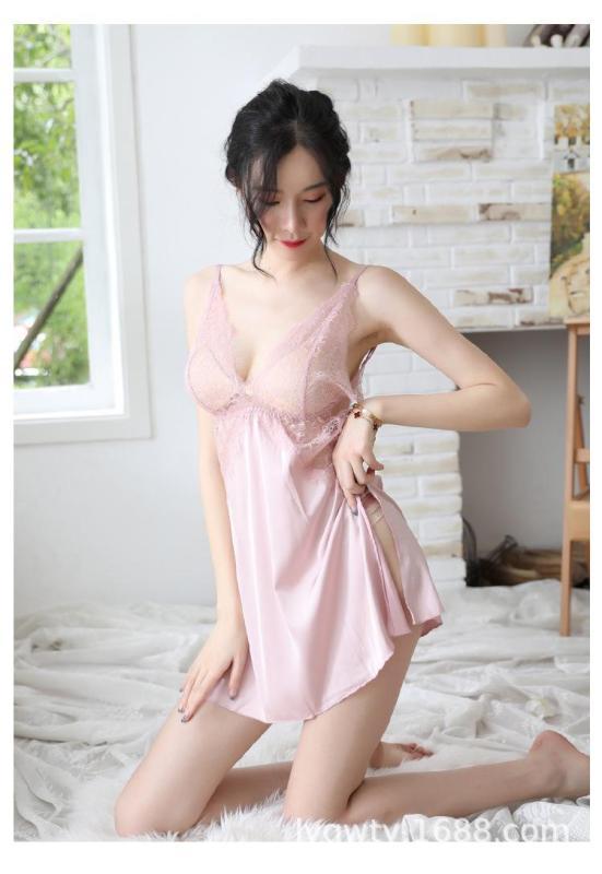 Nơi bán Váy ngủ lụa sexy 2 dây khoe trọn tấm lưng trần siêu quyến rũ MSW1923
