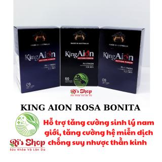 COMBO 3 HỘP THỰC PHẨM HỖ TRỢ TĂNG CƯỜNG SINH LÝ NAM GIỚI - KING AION - ROSA BONITA - HỖ TRỢ GIẢM CÁC NGUY CƠ MÃN DỤC SỚM Ở NAM GIỚI thumbnail