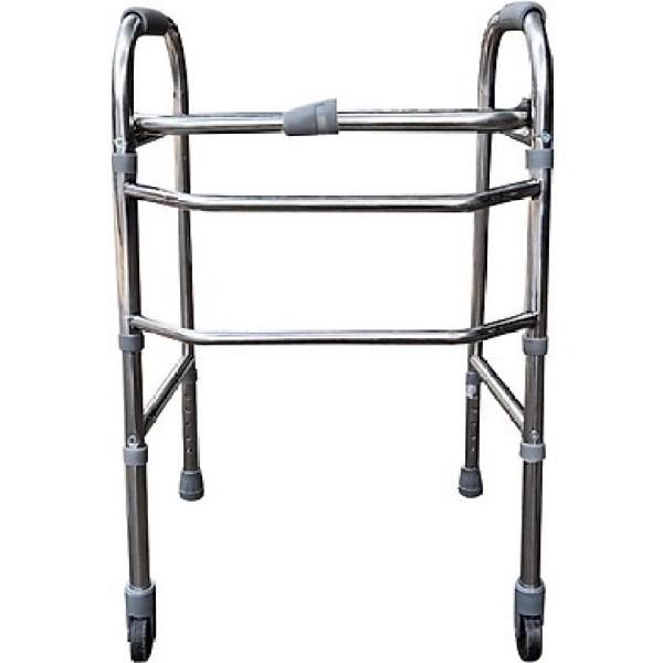 Khung tâp đi cho người già người bệnh có bánh xe hoặc ghế ngồi hoặc nạn gỗ (nạng nhôm), chất lượng đảm bảo an toàn đến sức khỏe người sử dụng, cam kết hàng đúng mô tả nhập khẩu