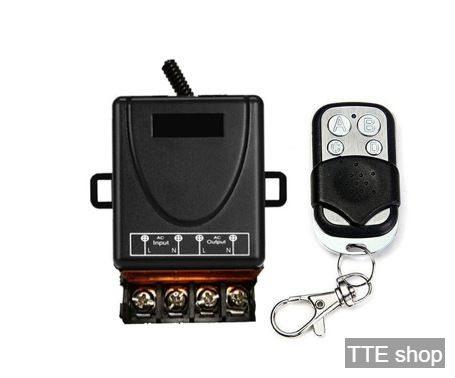 Công tắc ĐEN điều khiển từ xa 100m 30A 220V bật tắt bơm nước - máy rửa xe - bật đèn từ xa