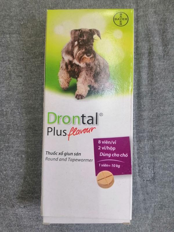 th,uốc sổ giun cho chó  Drontal(1 viên 10 ký) giá 34k/ 1 viên