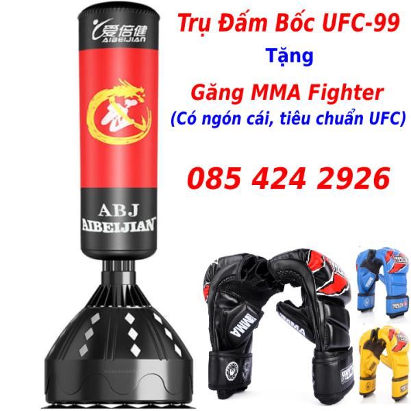 Bao cát đấm bốc - bao cát đấm bốc boxing tặng găng mma fighter - bao cát đấm bốc tự đứng UFC Aibeijiansport®, bảo hành 12 tháng