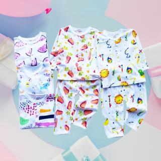 [CÓ CẬP NHẬT MẪU MỚI] Bộ cotton giấy dài tay có khuy mát cho bé trai và bé gái 2-13kg chất thun co giãn thông thoáng đủ họa tiết BBShine BVN004 thumbnail