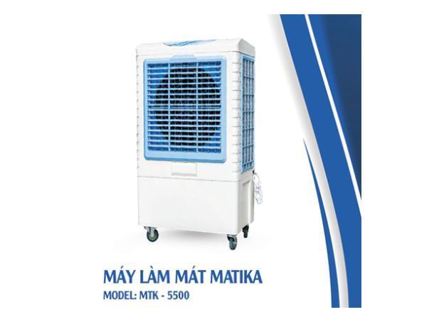 Máy làm mát Matika 150W làm mát bằng hơi nước màu xanh trắng MTK-5500