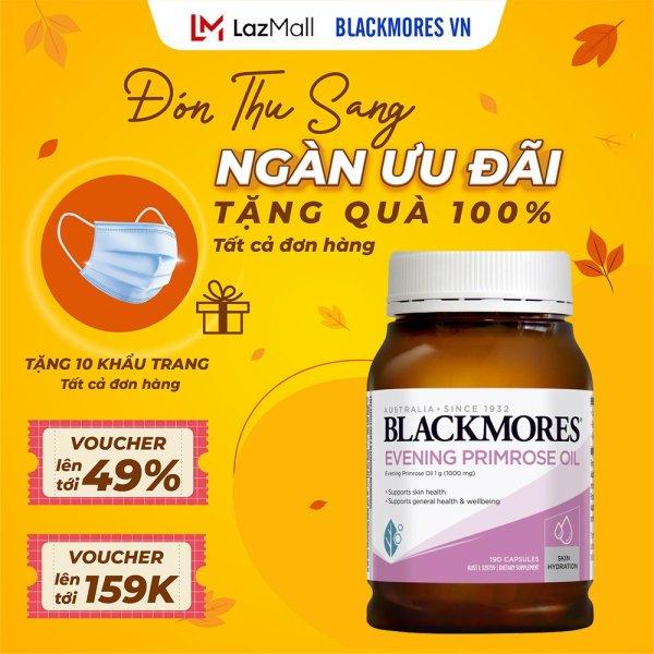 Blackmores Evening primrose oil 190v Tinh dầu hoa anh thảo Blackmore Úc, hỗ trợ cân bằng nội tiết tố cao cấp
