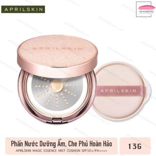 Phấn Nước Che Phủ Hoàn Hảo, Cho Làn Da Mịn Màng AprilSkin Magic Essence Mist Cushion SPF50+ PA++++ 13g - HAFA STORE thumbnail