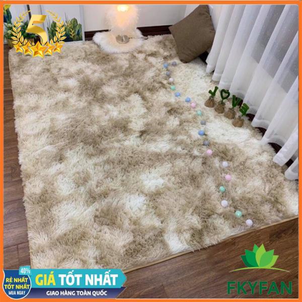 ( THẢM LOẠI DẠY ) Thảm lông trải sàn FKYFAN (2m x 1m6) cao cấp phòng khách trang trí nhà cửa thảm chụp hình