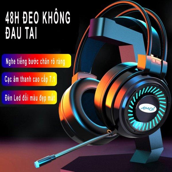 Bảng giá [SIÊU PHẨM GAMING] Tai nghe gaming có mic Amoi PC68, tai nghe chụp tai cóc mic, có đèn LED dùng cho PC/Laptop [GoodShop4U] Phong Vũ