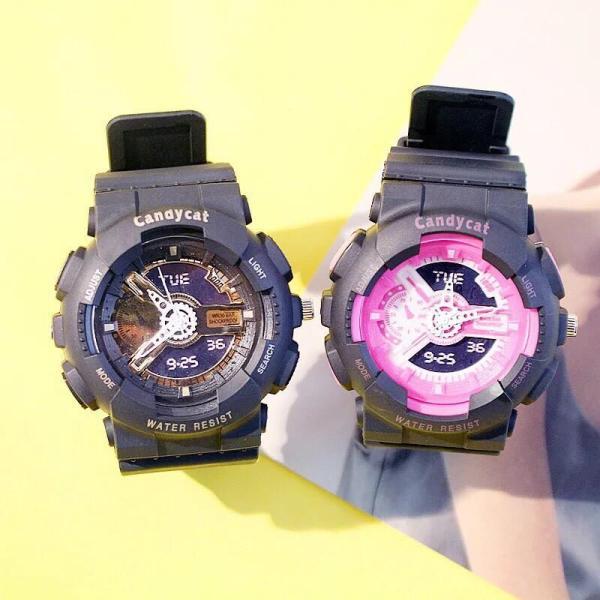 Nơi bán Đồng hồ thời trang nam nữ mẫu chạy kim giả điện tử Candycat mẫu mới