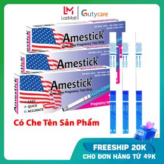 Hộp 3 que thử thai Amestick phát hiện thai sớm, test nhanh chóng đơn giản cho kết quả chính xác như que thử thai điện tử - Guty Care thumbnail