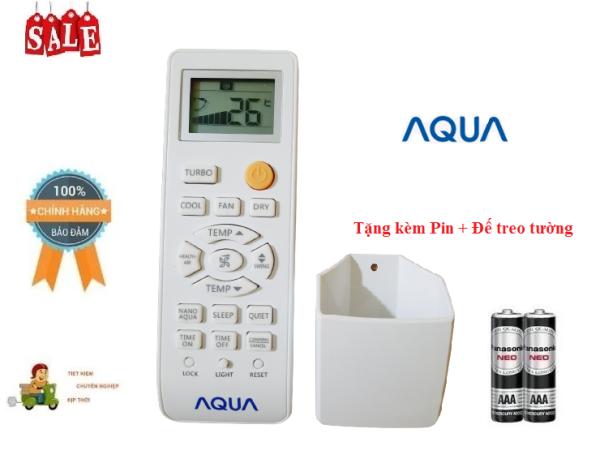Remote Điều khiển điều hòa máy lạnh Aqua 1&2 chiều Inverter- Hàng chính hãng AQUA mới 100% Tặng kèm Pin + Đế treo tường