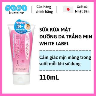 FreeShip Sữa Rửa Mặt Dưỡng Da Trắng Mịn Dưỡng Chất Nhau Thai Nhật Bản - White Lable Premium Placenta Wash 110g (WL01) thumbnail