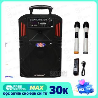 [ Xả Kho ] Loa kéo di động , Loa Karaoke Bluetooth RONAMAX F12 hát cực hay , kèm 2 micro không dây ( BASS 3 Tấc ) thumbnail