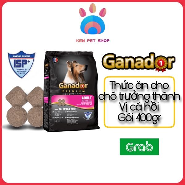 [GANADOR CÁ HỒI] [400GR - 3KG] Thức ăn hạt cao cấp Ganador cho chó trưởng thành - Vị cá hồi