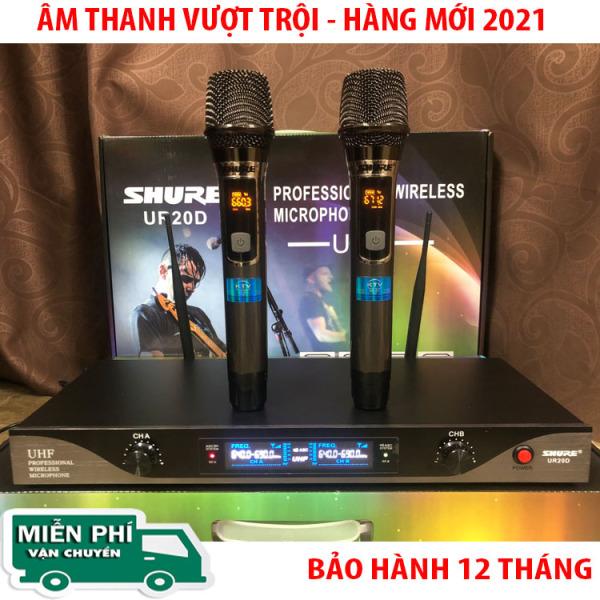 [ HÀNG MỚI 2021 ] MICRO KHÔNG DÂY SHURE UR20D - ComBo 2 MICRO- Tần số ứng dụng 730-860MHZ-  Sử dụng ngõ ra: 6 ly và cổng Balance cho mỗi bên- Đáp ứng tần số âm thanh : 80 Hz - 18 KHZ- Bảo Hành 12 Tháng