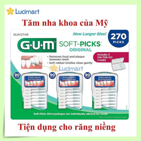 Tăm nha khoa Gum Soft Picks Original (vỉ 3 gói x 90 cây) [Hàng Mỹ] giá rẻ