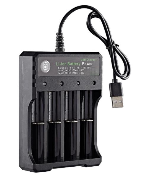 Sạc Pin Tự ngắt và có đèn báo khi đầy BMAX 4 Khe cao cấp dùng cho pin 18650
