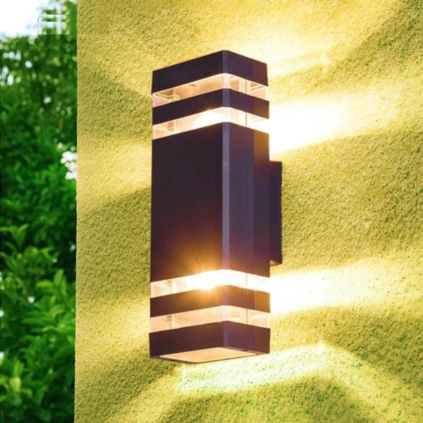 Bảng giá Đèn tường, đèn trụ ngoài trời 2 đầu 2 kẻ vạch sáng IP4066-2E27