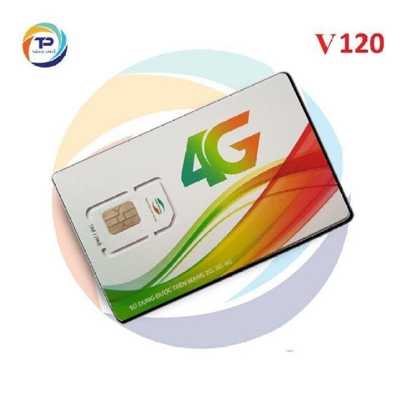 SIM 4G VIETTEL V120  120GB/tháng (4Gb/Ngày) + Gọi miễn phí cuộc gọi Nội mạng 20 phút & Miễn phí 50 phút gọi Ngoại mạng