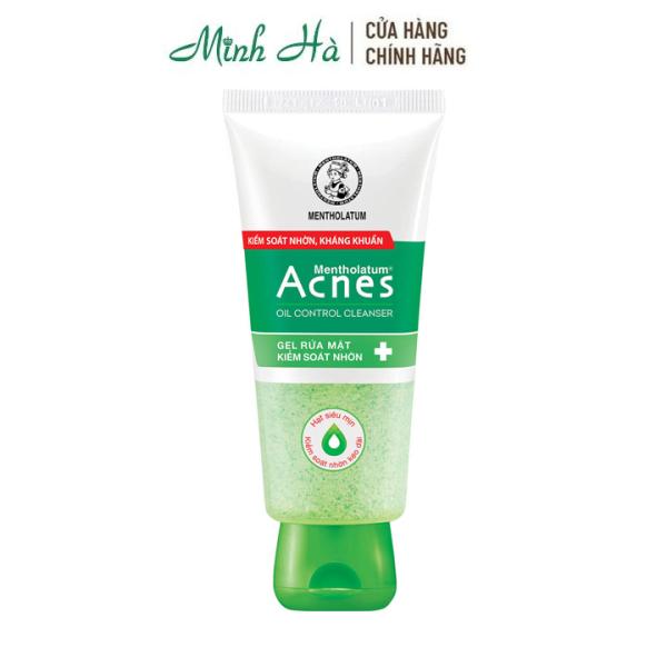 Gel rửa mặt kiểm soát nhờn Acnes Oil Control Cleanser giúp kiểm soát nhờn, kháng khuẩn 100g